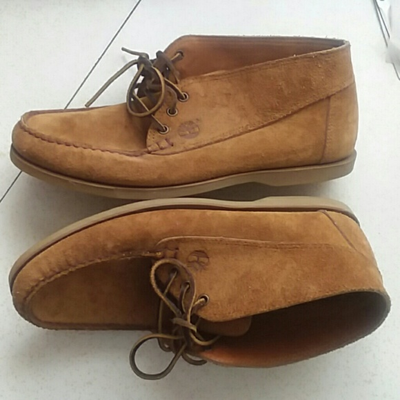 Timberland suede leather loafers tan mens size 12